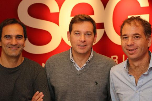 Fernando Schaich, Ernesto Elenter y Diego Garfinkel